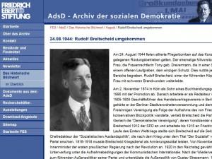 Rudolf Breitscheid beim Archiv der sozialen Demokratie