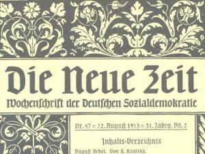 """Titelseite der Zeitschrift """"Die Neue Zeit"""" vom 22. August 1913"""